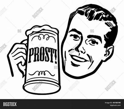 Beer Clip Retro Stein Illustration Vector Shutterstock