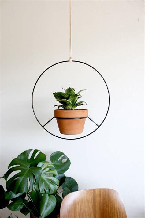 handmade  los angeles black metal hanging planter