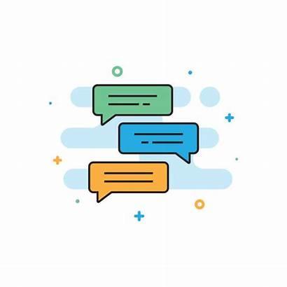 Text Message Bubble Clip Vector Illustrations Chat