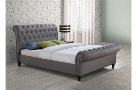 canapé king size birlea 6ft kingsize grey fabric bed frame