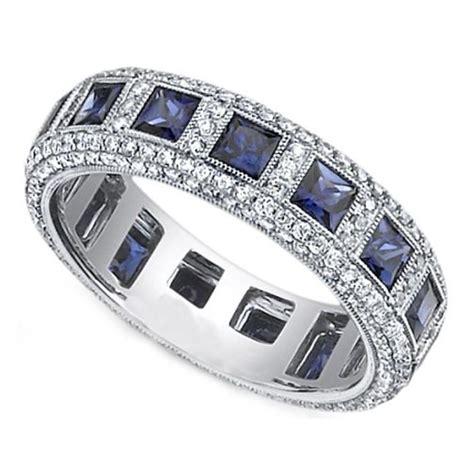 sapphire wedding bands ideas  pinterest