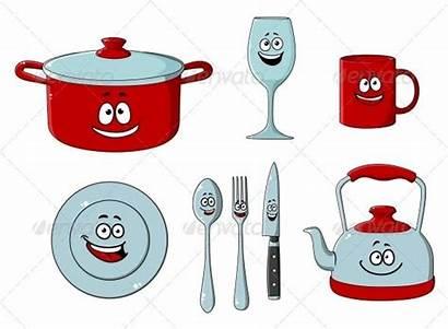 Cooking Utensils Kitchen Cartoon Baking Kitchenware Vector