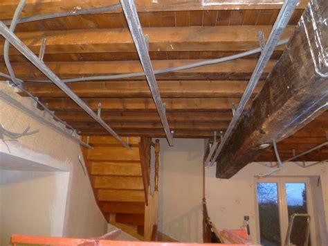 plafond en placo suspendu maison travaux