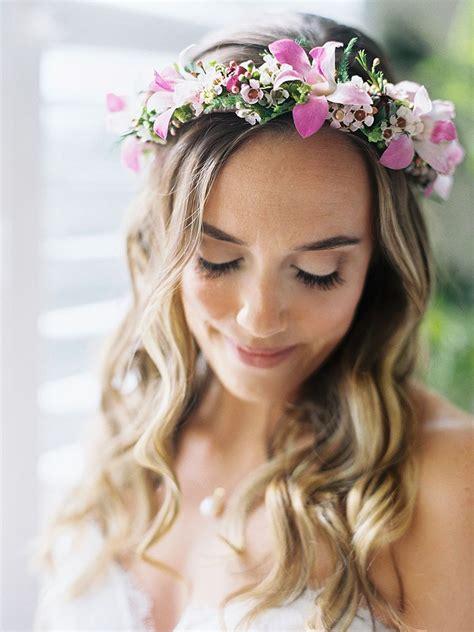wedding hair flower crown fade haircut