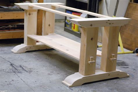 dining table construction plans trestle table woodworking plans trestle table base fcf