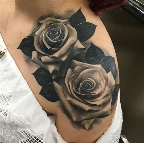 blackwork rose tattoos youll instantly love tattooblend