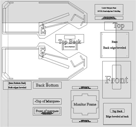 X Arcade Mame Cabinet Plans by X Build Plans Classic Arcade Cabinets