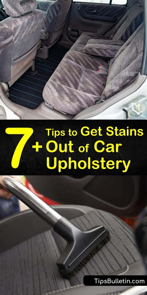 7+ Tips to Get Stains Out of Car Upholstery
