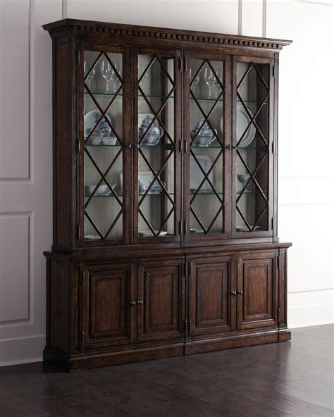china cabinet   elm  pine solids oak alder wood