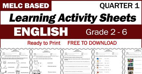 learning activity sheets  english   quarter