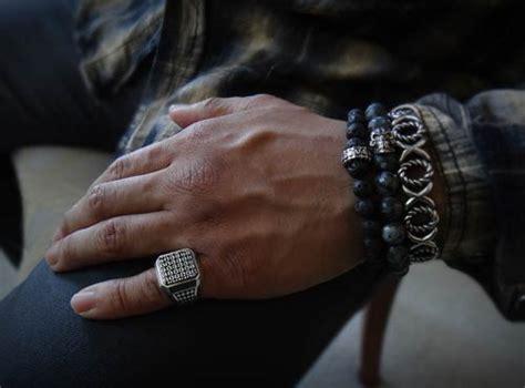 executive ring  men black diamonds  sterling silver