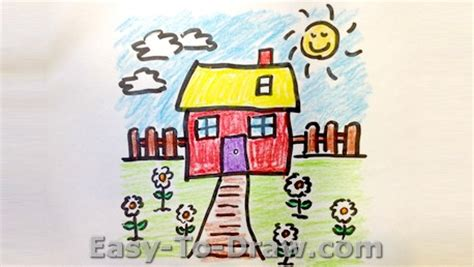 how to draw a flower garden for easy to