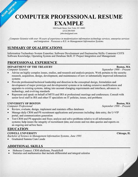 With Computers Resume by Computing Skills Resume