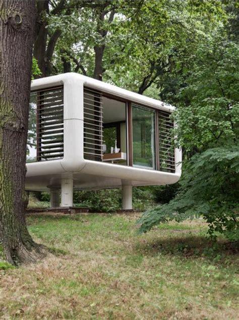 portable loft living spaces  glass walls sending