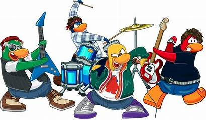 Band Rock Clip Clipart Animated Penguin Bands