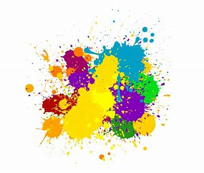 Splash Clipart Colour Splatter Transparent Background Colours