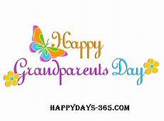 National Grandparent's Day September 9, 2018 Happy