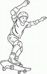 Skateboard Coloring Pages Skateboarding Boy Printable Skateboarder Site Pour Getcoloringpages Coloringpagesabc Coloring2print sketch template