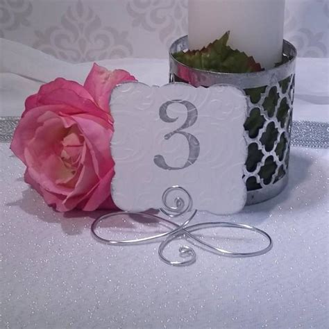 silver table number holders 20 large wire infinity bow table number holders black