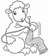 Knitting Coloring Sheep Tuesday Dulemba Crochet Knit Head Patterns sketch template