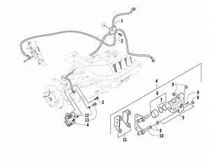 Hydraulic Brake Assembly  U0434 U043b U044f 500 Fis Manual Arctic Cat