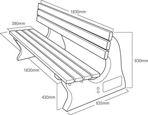 standard bench height park bench dimensions treenovation