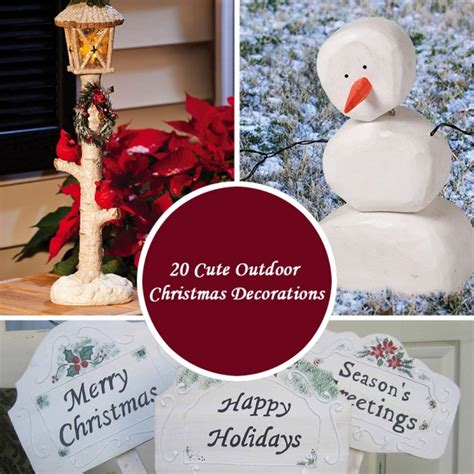 cute outdoor christmas decorations