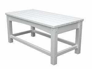 polywood outdoor furniture club coffee table white With white plastic outdoor coffee table