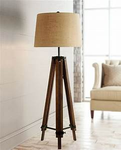 Wood Tripod Floor Lamps for Living Room - Traditional ...