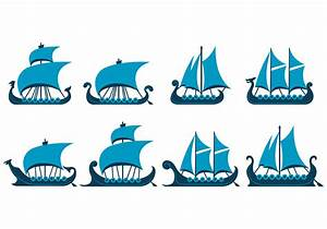 Vector Of Viking Ship - Download Free Vector Art, Stock ...