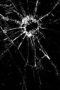 Cracked Black Screen Android Wallpaper