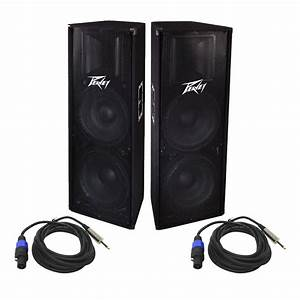 Peavey Pv 215 Pro Audio Dj 1400 Watt Passive Dual 15 U0026quot  Pa Loud Speaker With 1  4 U0026quot  To Speakon