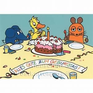 Happy Birthday Maus : die maus feiert geburtstag geburtstagskarte ~ Buech-reservation.com Haus und Dekorationen