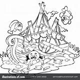 Ship Sunken Coloring Shipwreck Pages Clipart Drawing Paul Pirate Illustration Printable Template Visekart Royalty Rf Getdrawings Sketch Getcolorings sketch template