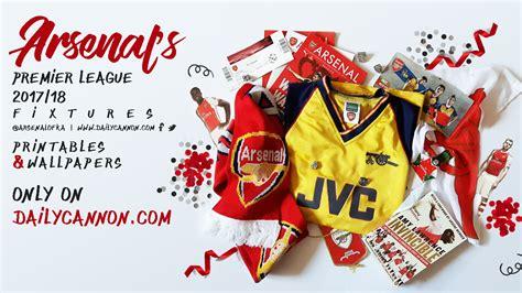 exclusive printables arsenals premier league fixtures