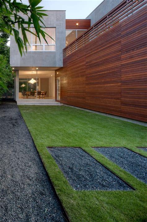 minimal landscape design modern landscape houston