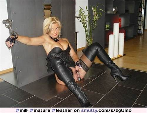 Good Woman Leather On The Street #Milf ##Mature ##Leather ##Boots ##Leatherboots ##Blonde ##