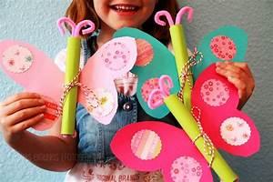 Basteln Mit Mädchen : einladungskarten kindergeburtstag basteln schmetterling ~ Lizthompson.info Haus und Dekorationen