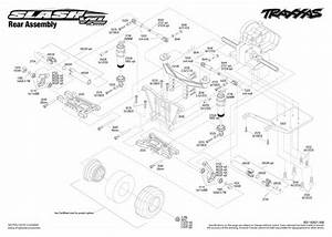 Exploded View  Traxxas Slash 1 10 Vxl Brushless Tqi Lcg Tsm Rtr