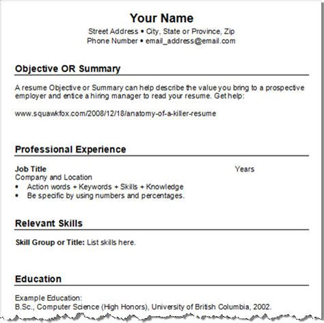 resume format 2017 for experienced meaning get your resume template three for free squawkfox