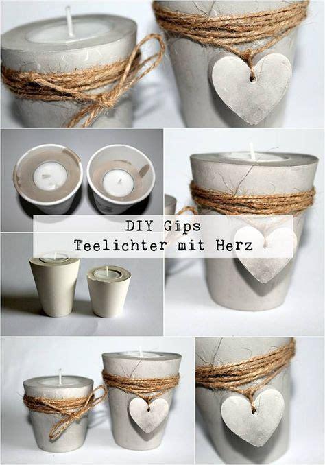 Bastel Mit Beton by Diy Gips Beton Teelichthalter Mit Einem Herz Ganz