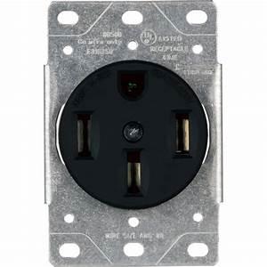 Enerlites 50 Amp Flush Mount Dryer Receptacle Power Outlet