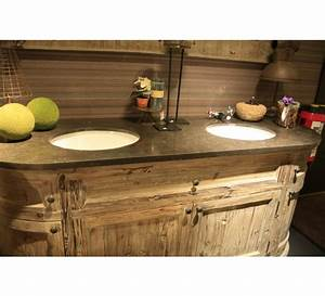 Meuble Vasque Bois Salle De Bain : meuble de salle de bain avec son miroir eglantine 3741 ~ Voncanada.com Idées de Décoration