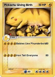Pokémon Pickachu Giving Birth - Babies Use Phunderbold ...