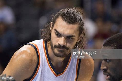 Steven Adams of the Oklahoma City Thunder during the ...
