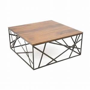 Table Fer Bois : table basse fer et bois petite table en verre trendsetter ~ Teatrodelosmanantiales.com Idées de Décoration