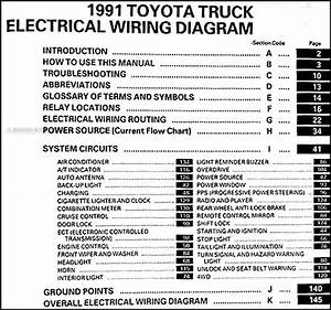 1991 Toyota Pickup Truck Wiring Diagram Manual