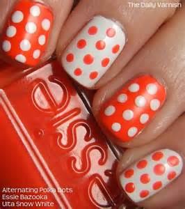 Nail art alternating polka dots the daily varnish