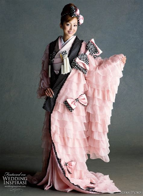 Traditional Japanese Wedding Kimono by Colorful Wedding Kimono From Scena D Uno 2010 Wedding