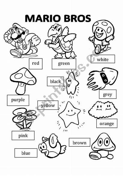 Mario Worksheets Coloring Worksheet Bros Math Brothers